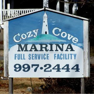 Cozy Cove Sign