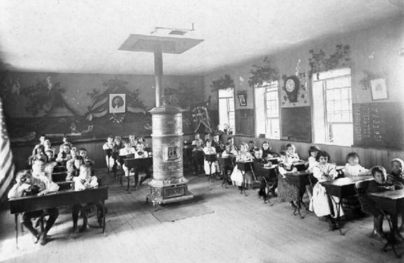 Schoolhouse interior