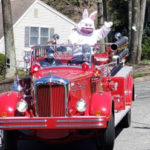Easter Bunny Fire Engine Ride